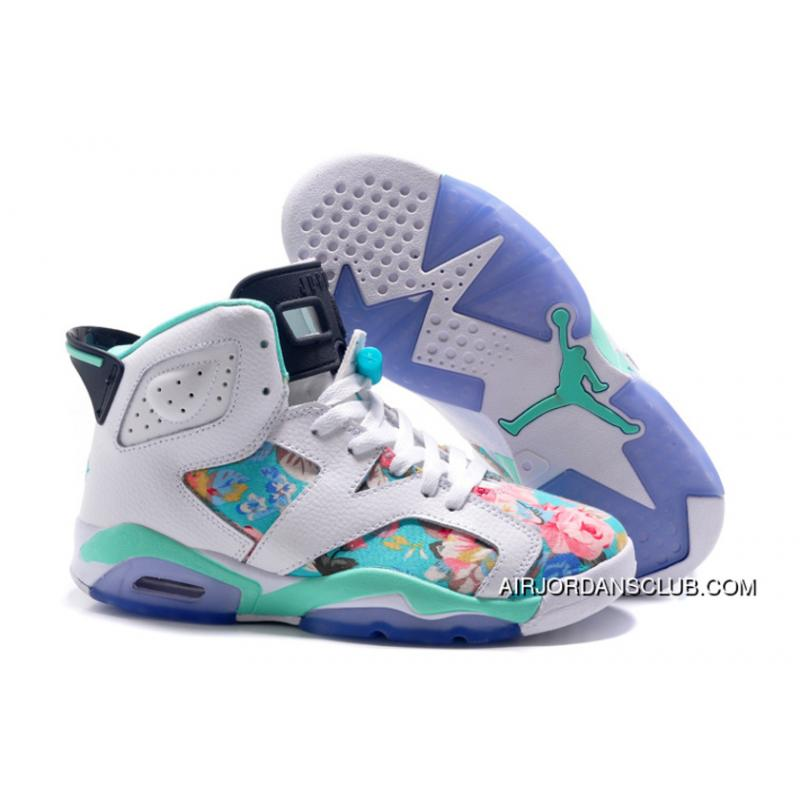 Air Jordan 6 Gs White Blue Best ... cb3631c897cf