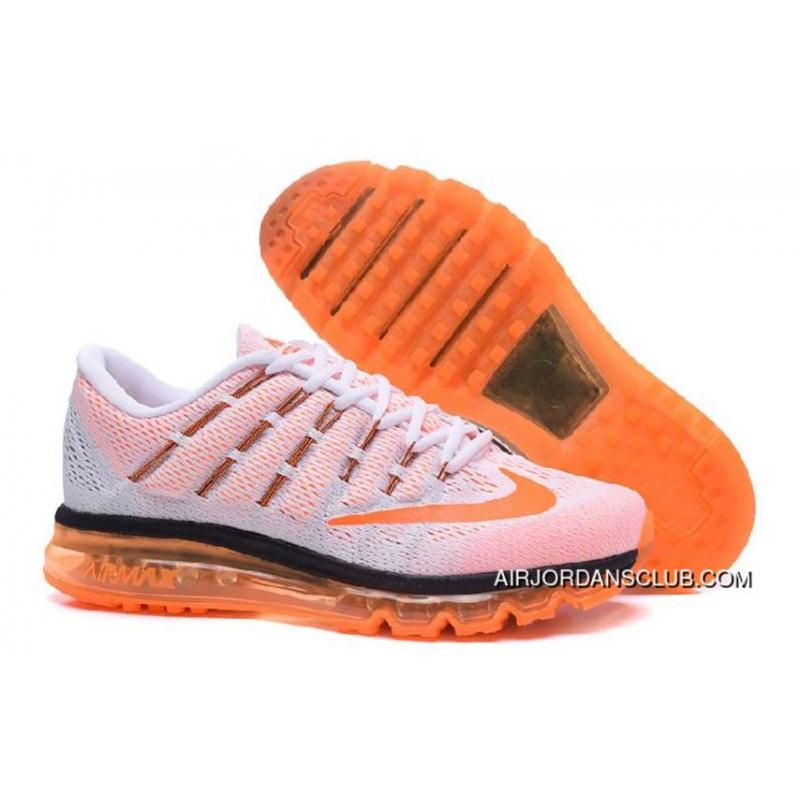 Uncostly Nike Air Max 2016 Black Orange White Free Shipping